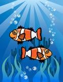 Undervattens- världstecknad filmillustration Royaltyfri Illustrationer