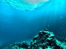 Undervattens- vaggar Royaltyfri Fotografi