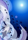 Underwater. A illustration for abstract underwater background Royalty Free Stock Images