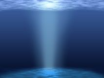 Underwater. View illustration. Submarine landscape Royalty Free Stock Image