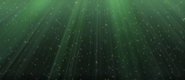 Underwater. Under water illustration in green shade Stock Photography