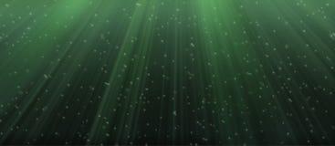 Underwater. Under water illustration in green shade royalty free illustration