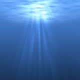 Underwater. Water surface seen from inside the water Stock Photography