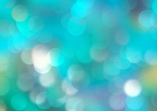 Underwater abstract blue bokeh background. Cyan turquoise colorful gradient watercolor background.Blue bright holiday shine bokeh abstract backdrop Royalty Free Stock Photography