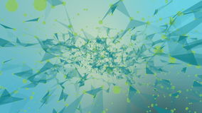 Underwater abundance. Abstract plexus background for different events and projects. Seamless loop. HD stock video footage
