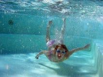 Underwater aerobics Royalty Free Stock Image