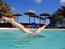 Underwater aerobics Royalty Free Stock Photo