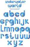 Underwater alphabet Royalty Free Stock Photos