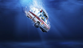 Underwater ambulance Royalty Free Stock Photography