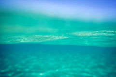 Underwater backgound. Blue underwater background. Summer sea Royalty Free Stock Image