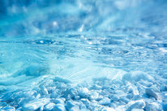 Underwater background. Underwater sea surface image with rock bottom. Marine background concept Stock Image