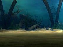 Underwater Background Stock Image