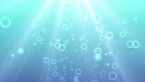 Underwater background. Blue underwater background with water bubbles stock video