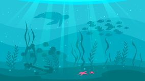 Underwater background with sea flora royalty free illustration