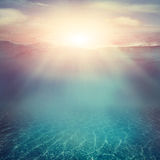 Underwater background Royalty Free Stock Photography