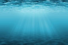 Underwater background with sun ray royalty free stock photos