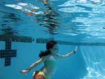 Underwater Ballet Royalty Free Stock Photography