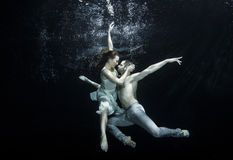 Underwater ballet dancers royalty free stock photography