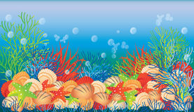 Underwater banner, Stock Photos