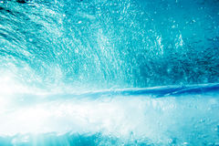 Underwater Blue waves in the Bal. Underwater Blue waves in the ocean in Bali royalty free stock photography