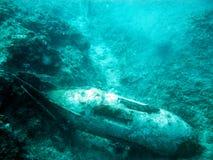 Underwater bomb Stock Images