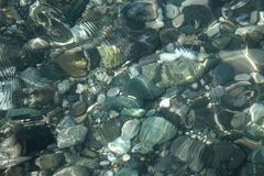 Underwater bottom pebble texture Royalty Free Stock Image