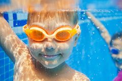 Underwater boy Stock Photo