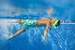 Underwater boy Royalty Free Stock Photography