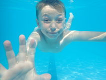 Underwater boy Stock Photography