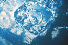Underwater bubbles with sunlight. Underwater background bubbles. Underwater stock photos