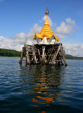 The underwater Buddhist church Royalty Free Stock Photo