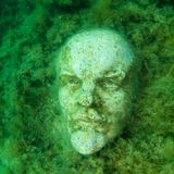 Underwater bust of Lenin Royalty Free Stock Images