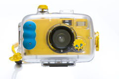 Underwater camera. Underwater diving camera isolated on white background Stock Photography