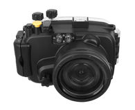 Underwater Camera. Isolated on white background Stock Photo