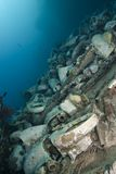 Underwater Cargo Remains Of A Shipwreck. Royalty Free Stock Photos