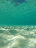 Underwater Caribbean seascape with aqua and sand Stock Image