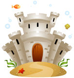 Underwater Castle Stock Photography
