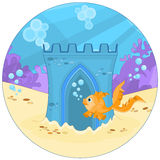Underwater Castle Royalty Free Stock Images