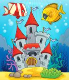Underwater castle theme 2 Royalty Free Stock Photos