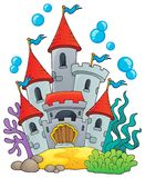 Underwater castle theme 1 Royalty Free Stock Photography
