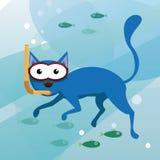 Underwater cat Stock Images