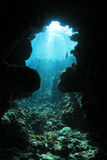 Underwater Cave Stock Photo