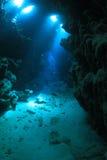 Underwater cave Stock Photos