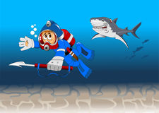 Underwater chase Royalty Free Stock Images