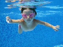 Underwater child Stock Photos