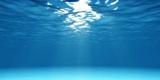 Underwater claro Imagens de Stock Royalty Free