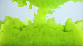 Underwater Colorful Ink Spread Stock Photography