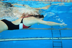 Underwater commovente Fotografia Stock