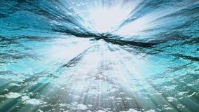 Underwater con il raggio di luce 4K loopable 3840 2160 stock footage
