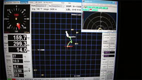 Underwater control panel of the submarine underwater in Pacific. Cocos Island, Costa Rica - 21 September 2015: Underwater control panel of the submarine stock video footage